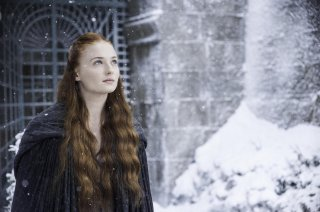 Il trono di spade: Sophie Turner in una scena dell'episodio Mockingbird