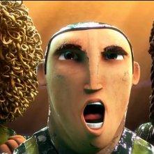 Goool!: Capi, Beto e Loco in una scena di esultanza tratta del film d'animazione