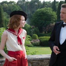 Magic in the Moonlight: Emma Stone e Colin Firth in una scena