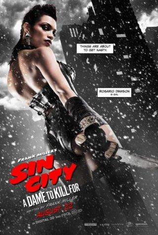 Sin City - Una donna per cui uccidere: il character poster di Gail, alias Rosario Dawson