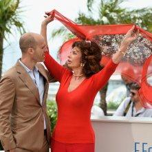 Sophia Loren a Cannes 2014 con il figlio Edoardo Ponti