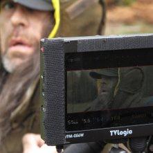 Tellusica: un momento delle riprese visto dal monitor