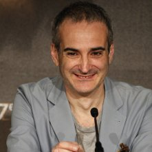 Clouds of Sils Maria: Olivier Assayas durante la conferenza stampa di Cannes 2014
