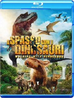 La cover del blu-ray di A spasso con i dinosauri