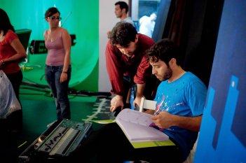Assolo: il regista Massimo Piccolo sul set con Antonio De Matteo