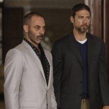 Tyrant: Adam Rayner con Ashraf Barhom in una scena della mini-serie