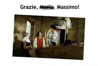 Grazie, Massimo