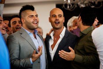 Gomorra - la serie, prima stagione: Marco D'Amore con Salvatore Esposito (Ciro e Genny)