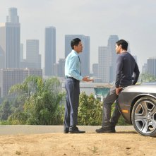 Gang Related: Jay Hernandez e Ramon Rodriguez in una scena del pilot