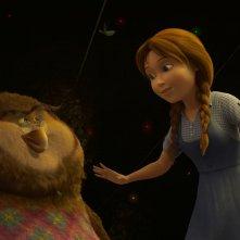Il magico mondo di Oz: Dorothy in una scena del film con Wiser il gufo