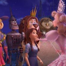 Il magico mondo di Oz: una colorata e affollata scena del film
