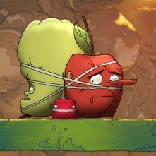 La mela e il verme: la mela Torben prigioniera in una scena del film