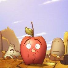 La mela e il verme: la mela Torben con lo sguardo atterrito in una scena del film