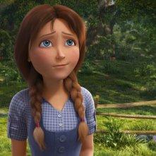 Il magico mondo di Oz: la piccola Dorothy in una scena del film animato