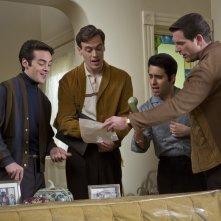 Jersey Boys: il gruppo rock dei Four Season durante le prove in una scena del film
