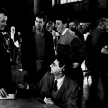 i Ghostbusters sul set con Reitman
