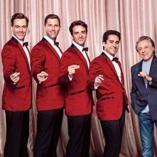 Jersey Boys: I Four Seasons con il vero Frankie Valli in una foto promozionale