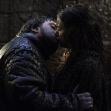 Il trono di spade: Hannah Murray e John Bradley nell'episodio The Watchers on the Wall