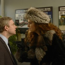Fargo: Kate Walsh e Martin Freeman nell'episodio The Heap