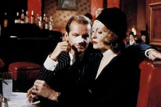 Chinatown: un momento del film con Faye Dunaway e Jack Nicholson