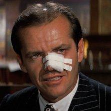 Chinatown: un'immagine di Jack Nicholson durante una scena