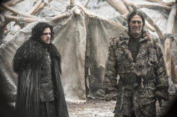 Il trono di spade: Kit Harington e Ciaran Hinds nell'episodio The Children
