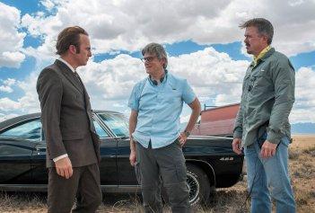 Better Call Saul: Bob Odenkirk, Vince Gilligan e Peter Gould sul set della serie