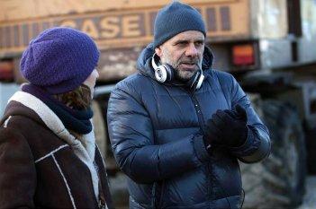 Scusate se esisto: il regista Riccardo Milani con la moglie e protagonista Paola Cortellesi sul set del film