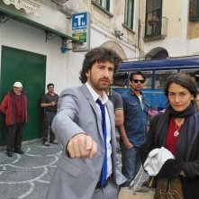 Alessandro Siani sul set di Si Accettano Miracoli