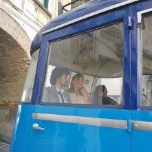 Serena Autieri e Alessandro Siani sul set di Si Accettano Miracoli
