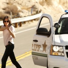 CSI: Jorja Fox una scena dell'episodio Girl Gone Wild