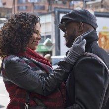 The Best Man Holiday: Taye Diggs insieme a Sanaa Lathan in una tenera scena del film