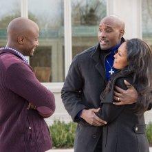 The Best Man Holiday: Monica Calhoun con Morris Chestnut e Taye Diggs in una scena