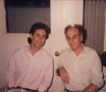 Seinfeld: Jerry Seinfeld e Larry David in una foto d'epoca
