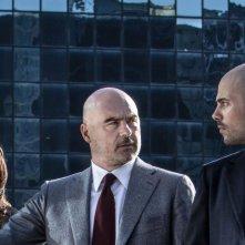 Perez.: Simona Tabasco con Luca Zingaretti e Marco D'Amore in una scena del film