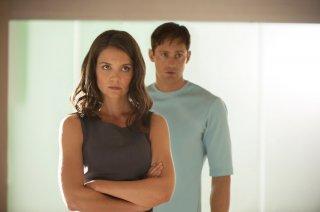 The Giver - Il mondo di Jonas: Katie Holmes e Alexander Skarsgard in una scena