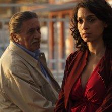 Non lo so ancora: Donatella Finocchiaro con Giulio Brogi in una scena del film