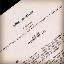 X-Men: Apocalypse: una pagina del trattamento diffusa dal regista Bryan Singer su Instagram
