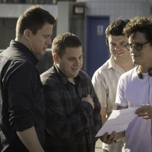 22 Jump Street: i due registi del film sul set con Channing Tatum e Jonah Hill