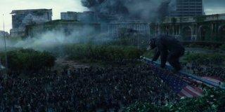 Apes Revolution - Il pianeta delle scimmie: una suggestiva scena del film