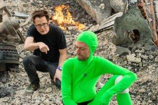 Guardiani della galassia: James Gunn sul set col fratello Sean Gunn che dà vita a Kraglin in motion picture