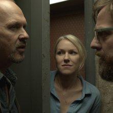 Zach Galifianakis, Naomi Watts e Michael Keaton in Birdman