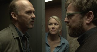 Zach Galifianakis, Naomi Watts e Michael Keaton in Birdman