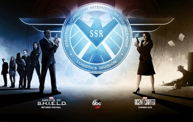 Comic-Con poster che anticipa il crossover tra Agents of S.H.I.E.L.D. e Agent Carter