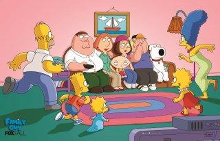 Un'immagine promozionale per il crossover tra I Simpson e I Griffin