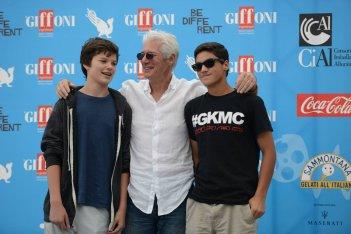 Richard Gere a Giffoni 2014 con suo figlio e il miglior amico del ragazzo
