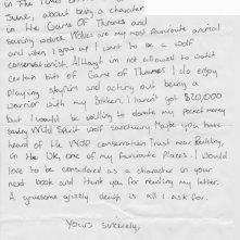 Il trono di spade: la lettera di un fan tredicenne a George R.R. Martin