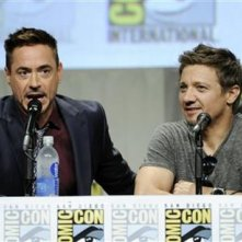 Comic-Con: Marvel Cinema - Jeremy Renner e Robert Downey Jr. in un'immagine