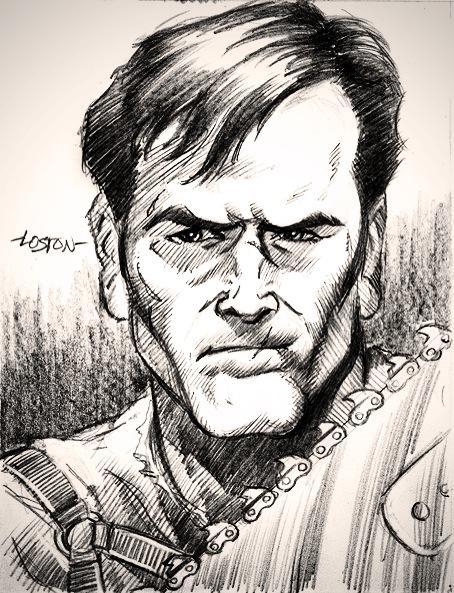Bruce Campbell posta su Twitter una sua immagine a fumetti