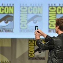 Comic-Con: Kevin Bacon si appresta a girare un video del pubblico